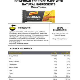 PowerBar Energize Made with Natural Ingredients Bar Box 25x55g, Mango Tropical
